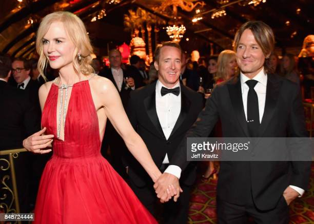 Nicole Kidman and Keith Urban attend the HBO's Official 2017 Emmy After Party at The Plaza at the Pacific Design Center on September 17 2017 in Los...