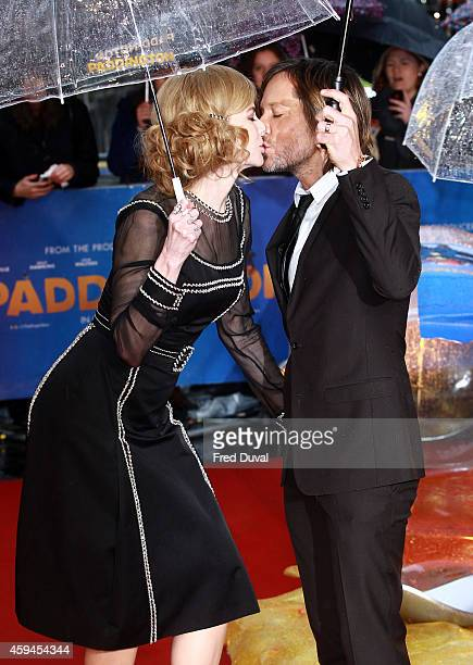 Nicole Kidman and Keith Urban attend the 'Paddington'world premiere at Odeon Leicester Square on November 23 2014 in London England
