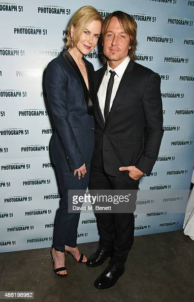 Nicole Kidman and Keith Urban attend the 'Photograph 51' press night after party at the The National Cafe on September 14 2015 in London England