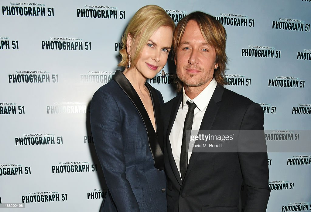 <a gi-track='captionPersonalityLinkClicked' href=/galleries/search?phrase=Nicole+Kidman&family=editorial&specificpeople=156404 ng-click='$event.stopPropagation()'>Nicole Kidman</a> (L) and <a gi-track='captionPersonalityLinkClicked' href=/galleries/search?phrase=Keith+Urban&family=editorial&specificpeople=202997 ng-click='$event.stopPropagation()'>Keith Urban</a> attend the 'Photograph 51' press night after party at the The National Cafe on September 14, 2015 in London, England.