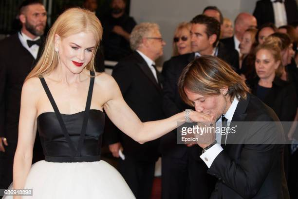 Nicole Kidman and Keith Urban attend the 'The Killing Of A Sacred Deer' screening during the 70th annual Cannes Film Festival at Palais des Festivals...