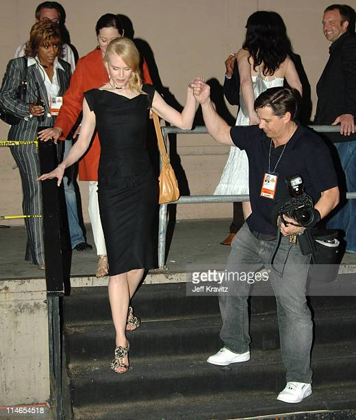 Nicole Kidman and Kevin Mazur during 2005 MTV Movie Awards Backstage and Audience at Shrine Auditorium in Los Angeles California United States