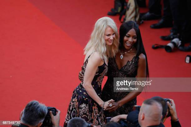 Nicole Kidman and Naomi Campbell attend the 70th Anniversary of the 70th annual Cannes Film Festival at Palais des Festivals on May 23 2017 in Cannes...