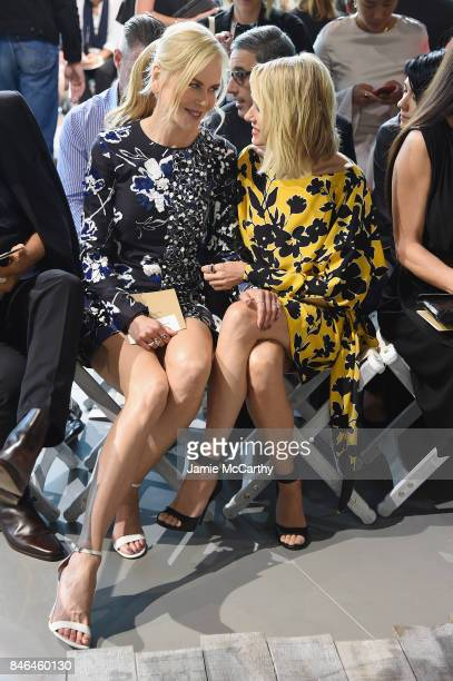 Nicole Kidman and Naomi Watts attend the Michael Kors Collection Spring 2018 Runway Show at Spring Studios on September 13 2017 in New York City