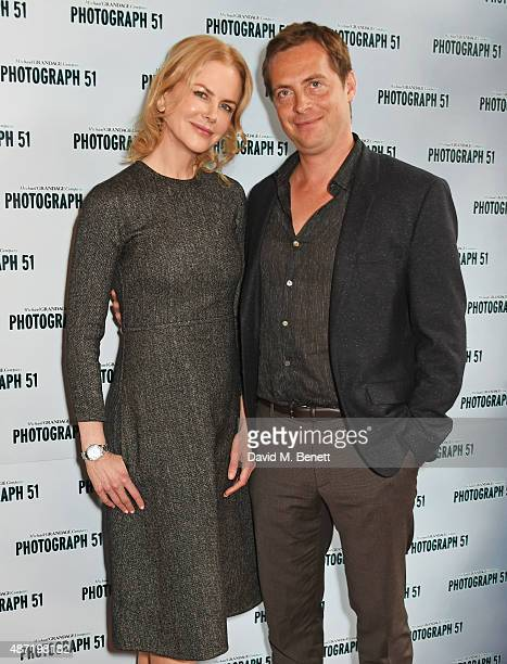 Nicole Kidman and Stephen Campbell Moore pose at a photocall for the Michael Grandage Company's production of 'Photograph 51' at the Noel Coward...