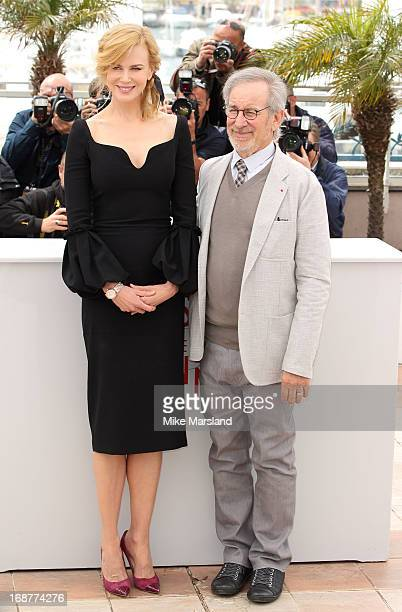 Nicole Kidman and Steven Spielberg attend the Jury Photocall at The 66th Annual Cannes Film Festival on May 15 2013 in Cannes France