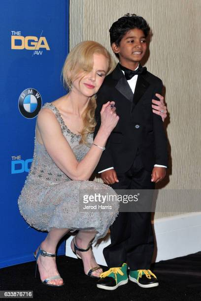 Nicole Kidman and Sunny Pawar attend the 69th Annual Directors Guild of America Awards at The Beverly Hilton Hotel on February 4 2017 in Beverly...