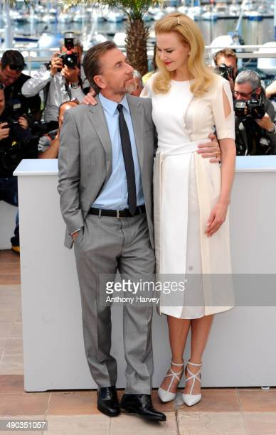 Nicole Kidman and Tim Roth attend the 'Grace of Monaco' photocall at the 67th Annual Cannes Film Festival on May 14 2014 in Cannes France