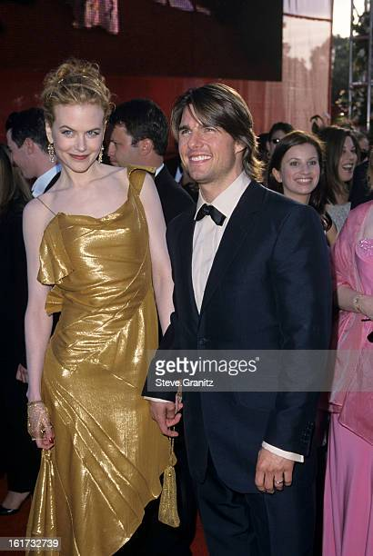 Nicole Kidman and Tom Cruise during 72nd Annual Academy Awards Arrivals at Shrine Auditorium in Los Angeles California United States