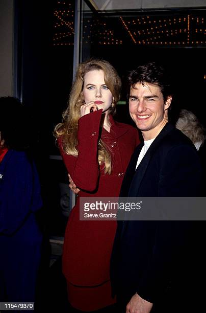 Nicole Kidman and Tom Cruise during Premiere of ''A Few Good Men'' at Mann's Village Theater in Westwood California United States