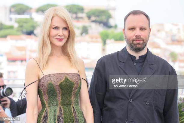 Nicole Kidman and Yorgos Lanthimos attend the 'The Killing Of A Sacred Deer' Photocall during the 70th annual Cannes Film Festival at Palais des...