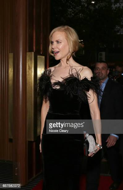 Nicole Kidman arrives ahead of the Swisse Wellness 'Power Your Passion' Event on March 25 2017 in Melbourne Australia