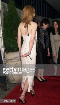 Nicole Kidman arrives at a private screening for the film 'Moulin Rouge' at The Paris Theater in New York City Photo Evan Agostini/ImageDirect