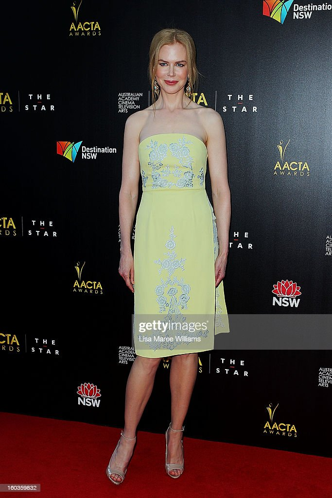 Nicole Kidman arrives at the 2nd Annual AACTA Awards at The Star on January 30, 2013 in Sydney, Australia.