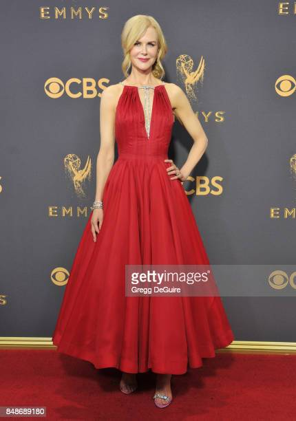 Nicole Kidman arrives at the 69th Annual Primetime Emmy Awards at Microsoft Theater on September 17 2017 in Los Angeles California