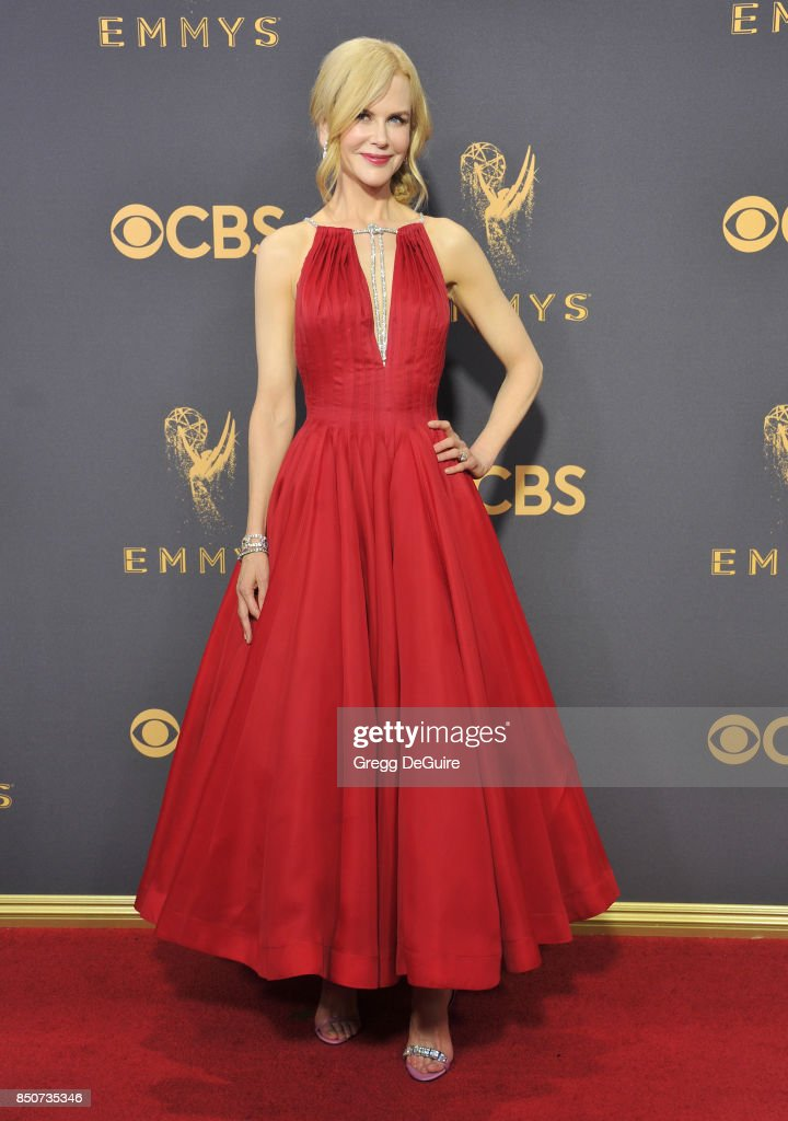 Nicole Kidman arrives at the 69th Annual Primetime Emmy Awards at Microsoft Theater on September 17, 2017 in Los Angeles, California.