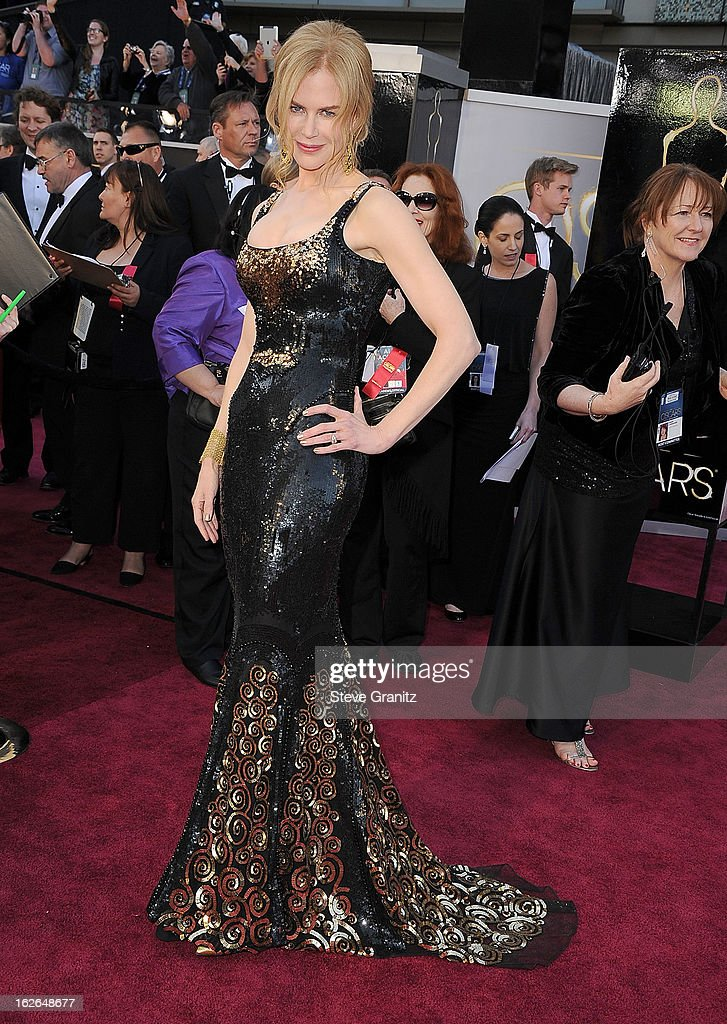 Nicole Kidman arrives at the 85th Annual Academy Awards at Dolby Theatre on February 24, 2013 in Hollywood, California.