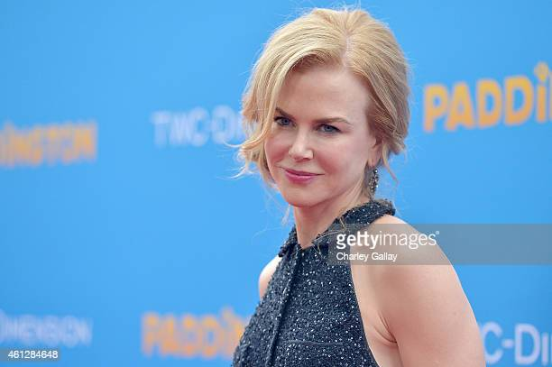 Nicole Kidman arrives on the red carpet for the premiere of Paddington at TCL Chinese Theatre IMAX on January 10 2015 in Hollywood California