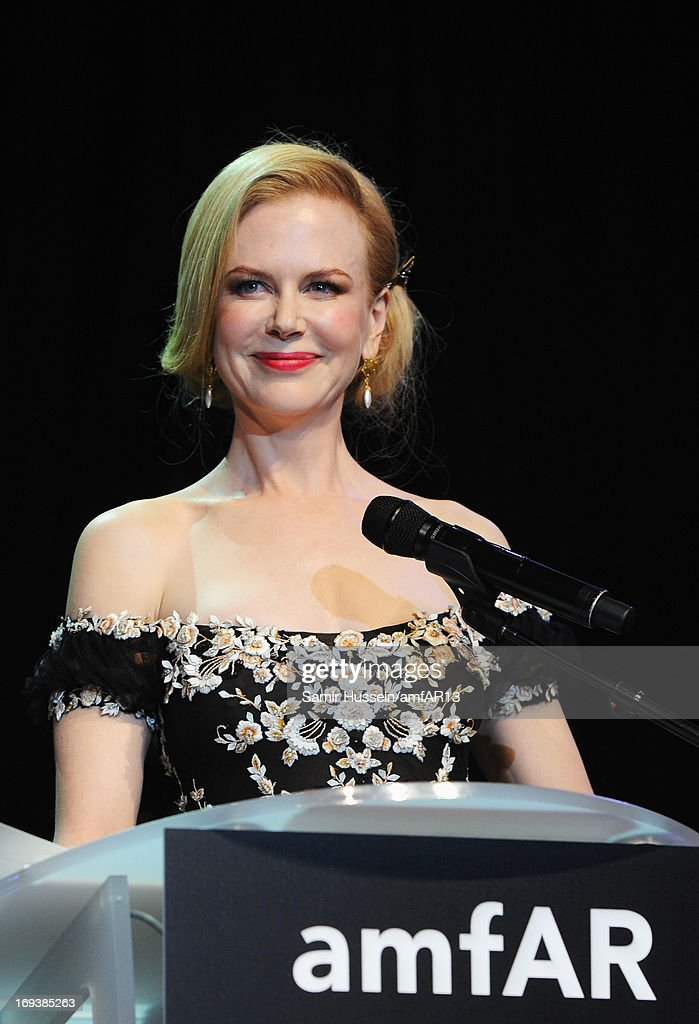 <a gi-track='captionPersonalityLinkClicked' href=/galleries/search?phrase=Nicole+Kidman&family=editorial&specificpeople=156404 ng-click='$event.stopPropagation()'>Nicole Kidman</a> attends amfAR's 20th Annual Cinema Against AIDS during The 66th Annual Cannes Film Festival at Hotel du Cap-Eden-Roc on May 23, 2013 in Cap d'Antibes, France.