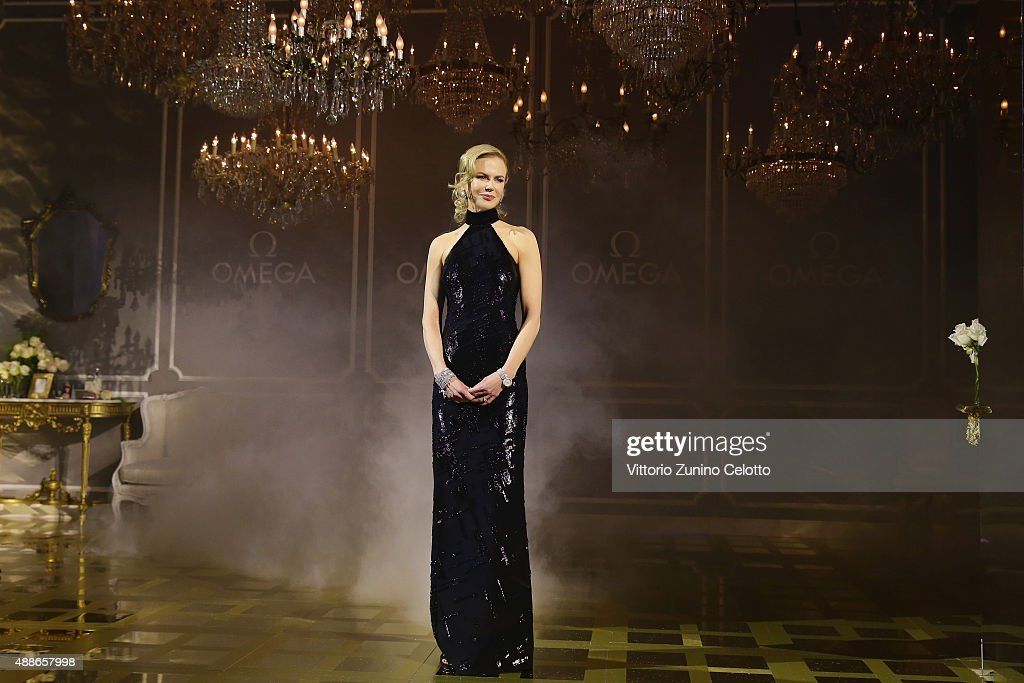 <a gi-track='captionPersonalityLinkClicked' href=/galleries/search?phrase=Nicole+Kidman&family=editorial&specificpeople=156404 ng-click='$event.stopPropagation()'>Nicole Kidman</a> attends OMEGA 'Her Time' Gala Dinner at Palazzo Del Ghiaccio on September 16, 2015 in Milan, Italy.