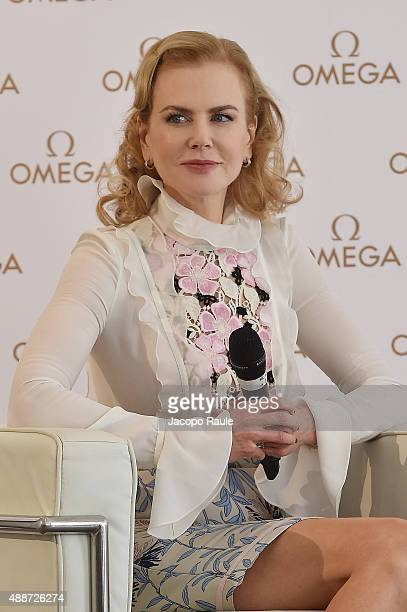 Nicole Kidman attends OMEGA 'Her Time' QA session at Palazzo Parigi on September 17 2015 in Milan Italy