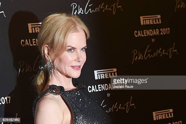 Nicole Kidman attends Pirelli Calendar 2017 by Peter Lindberg photocall at La Cite Du Cinema on November 29 2016 in SaintDenis France