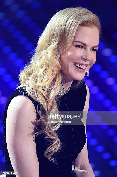 Nicole Kidman attends second night of the 66th Festival di Sanremo 2016 at Teatro Ariston on February 10 2016 in Sanremo Italy