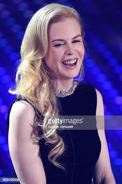 Nicole Kidman attends second night of the 66th Festival di Sanremo 2016 at Teatro Ariston on February 10 2016 in Sanremo Italy