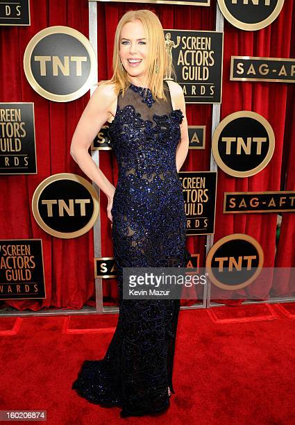 Nicole Kidman attends the 19th Annual Screen Actors Guild Awards at The Shrine Auditorium on January 27 2013 in Los Angeles California...