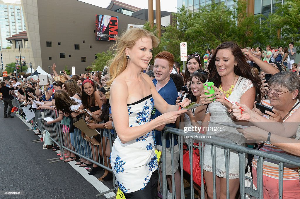 <a gi-track='captionPersonalityLinkClicked' href=/galleries/search?phrase=Nicole+Kidman&family=editorial&specificpeople=156404 ng-click='$event.stopPropagation()'>Nicole Kidman</a> attends the 2014 CMT Music awards at the Bridgestone Arena on June 4, 2014 in Nashville, Tennessee.