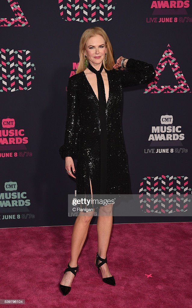 Nicole Kidman attends the 2016 CMT Music awards at the Bridgestone Arena on June 8 2016 in Nashville Tennessee