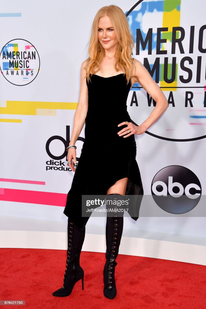 Nicole Kidman attends the 2017 American Music Awards at Microsoft Theater on November 19, 2017 in Los Angeles, California.