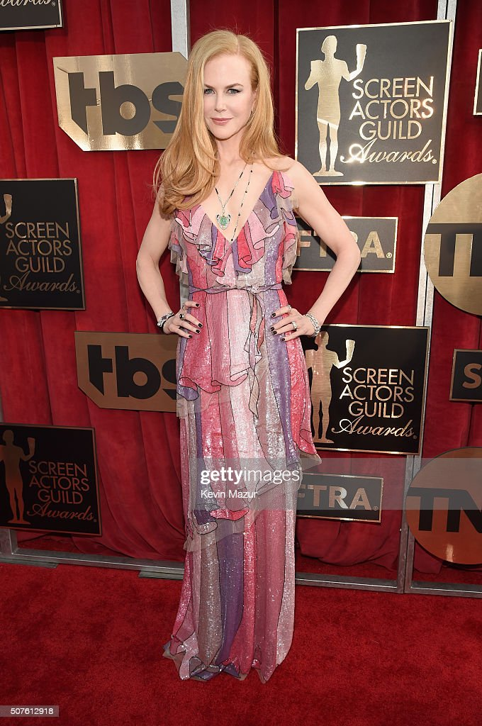 <a gi-track='captionPersonalityLinkClicked' href=/galleries/search?phrase=Nicole+Kidman&family=editorial&specificpeople=156404 ng-click='$event.stopPropagation()'>Nicole Kidman</a> attends The 22nd Annual Screen Actors Guild Awards at The Shrine Auditorium on January 30, 2016 in Los Angeles, California. 25650_012