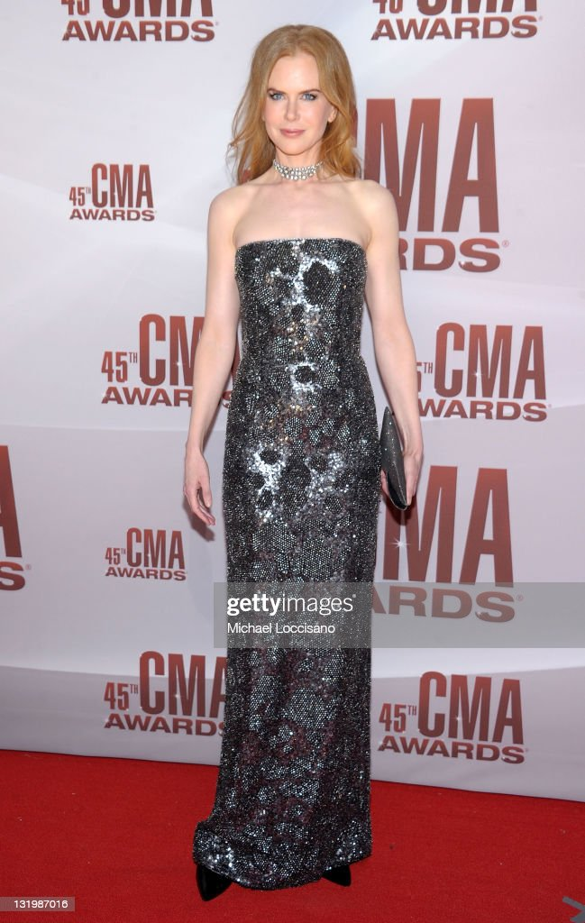 <a gi-track='captionPersonalityLinkClicked' href=/galleries/search?phrase=Nicole+Kidman&family=editorial&specificpeople=156404 ng-click='$event.stopPropagation()'>Nicole Kidman</a> attends the 45th annual CMA Awards at the Bridgestone Arena on November 9, 2011 in Nashville, Tennessee.