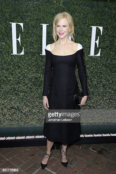 Nicole Kidman attends the ELLE's Annual Women In Television Celebration 2017 Red Carpet at Chateau Marmont on January 14 2017 in Los Angeles...