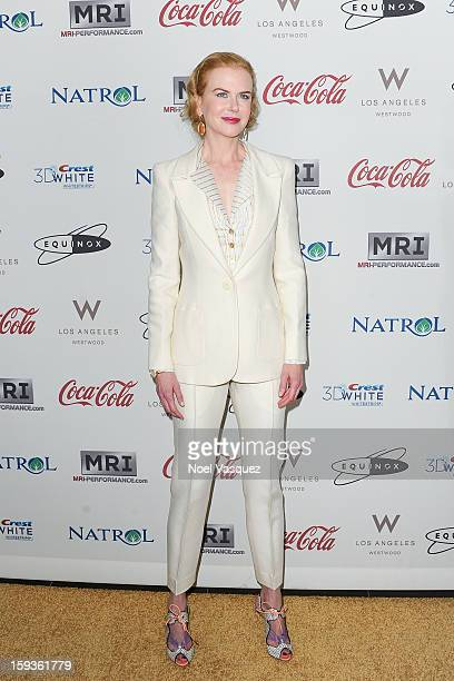 Nicole Kidman attends the 'Gold Meets Golden' event hosted at Equinox on January 12 2013 in Los Angeles California