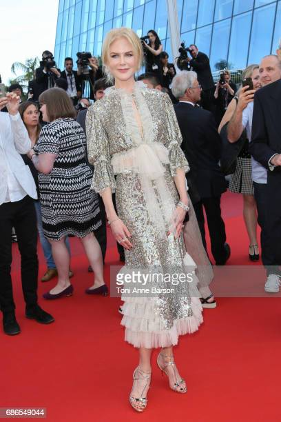 Nicole Kidman attends the 'How To Talk To Girls At Parties' screening during the 70th annual Cannes Film Festival at Palais des Festivals on May 21...