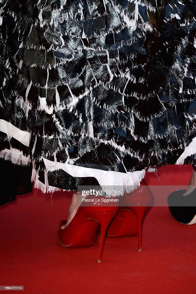 Nicole Kidman (shoe detail) attends the 'La Venus A La Fourrure' premiere during The 66th Annual Cannes Film Festival at Theatre Lumiere on May 25, 2013 in Cannes, France.