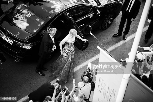 This image has been created using digital filters Nicole Kidman attends the Opening ceremony and the 'Grace of Monaco' Premiere during the 67th...