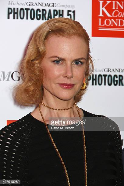 Nicole Kidman attends the 'Photograph 51' charity performance after party at the Great Hall On The Strand on November 19 2015 in London England The...