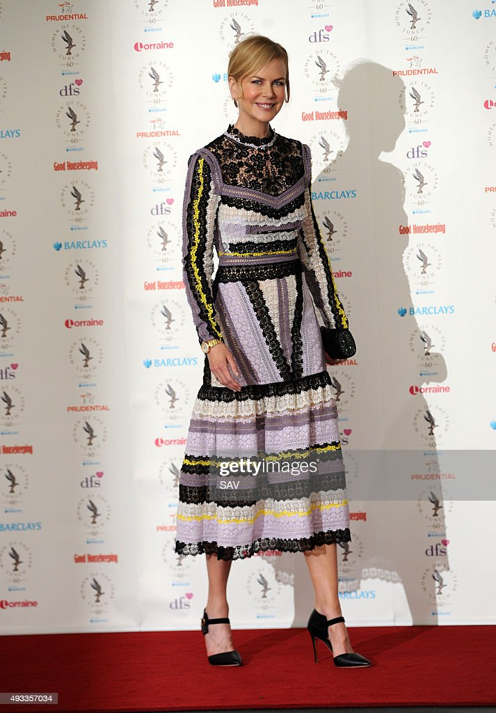 Nicole Kidman attends The Women Of The Year Awards at The Intercontinental Hotel on Park Lane on October 19 2015 in London England