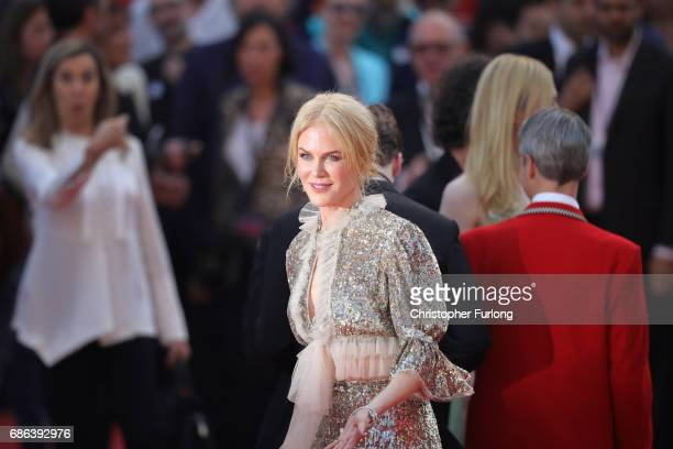 Nicole Kidman departs after the 'How To Talk To Girls At Parties' screening during the 70th annual Cannes Film Festival at on May 21 2017 in Cannes...