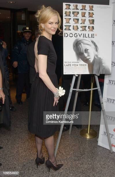Nicole Kidman during 41st New York Film Festival Sponsored by Grand Marnier 'Dogville' Premiere Inside Arrivals and Green Room at Alice Tully Hall...