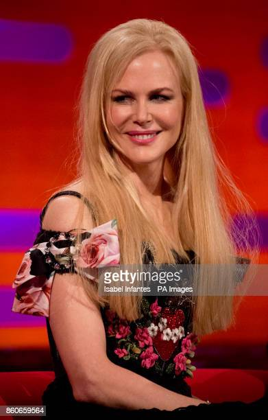 Nicole Kidman during filming of the Graham Norton Show at the London Studios to be aired on BBC One on Friday evening