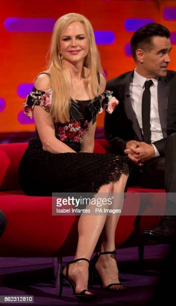 Nicole Kidman during the Graham Norton Show at The London Studios to be aired on BBC One on Friday Picture date Thursday October 12 2017 Photo credit...