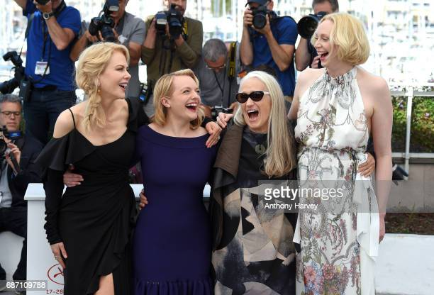 Nicole Kidman Elisabeth Moss director Jane Campion and Gwendoline Christie attend the 'Top Of The Lake China Girl' Photocall during the 70th annual...