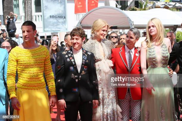 Nicole Kidman Elle Fanning John Cameron Mitchell and cast attend the 'How To Talk To Girls At Parties' screening during the 70th annual Cannes Film...