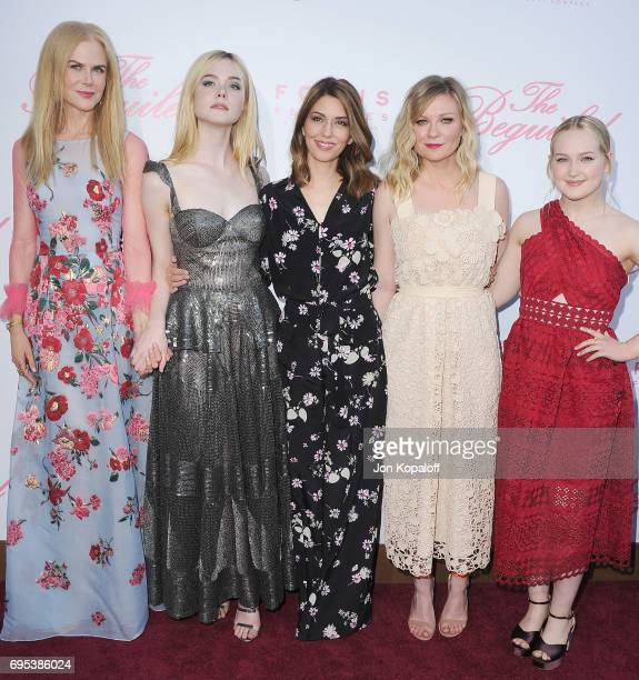 Nicole Kidman Elle Fanning Sofia Coppola Kirsten Dunst and Emma Howard arrive at the US Premiere Of 'The Beguiled' at Directors Guild Of America on...