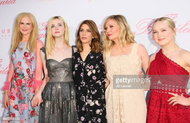 Nicole Kidman Elle Fanning Sofia Coppola Kirsten Dunst and Emma Howard attend the premiere of 'The Beguiled' on June 12 2017 in Los Angeles California
