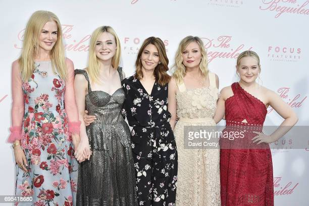 Nicole Kidman Elle Fanning Sofia Coppola Kirsten Dunst and Emma Howard attend the US Premiere Of 'The Beguiled' Arrivals at Directors Guild Of...